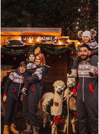 северный олень Распечатать Семейное соответствие Рождественская пижама