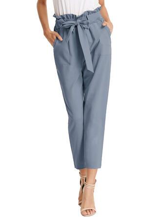 Jednolity Capris Nieformalny Jednolity Spodnie
