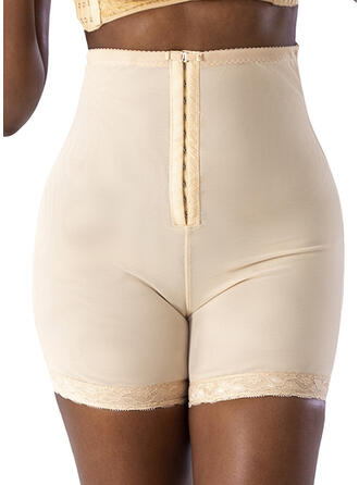 Elasthan Chinlon Blonder Solid color Plus størrelse Shapewear