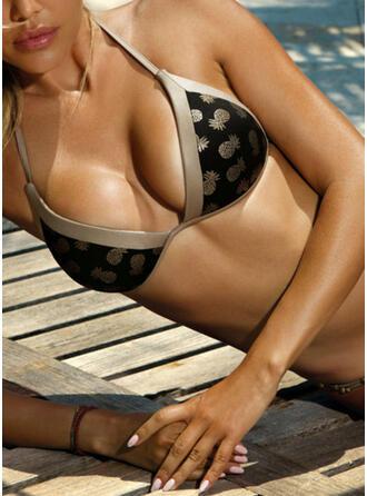 Lav talje Blade Print Halterudskæring Elegant Moderigtigt Bikinier Badedragter