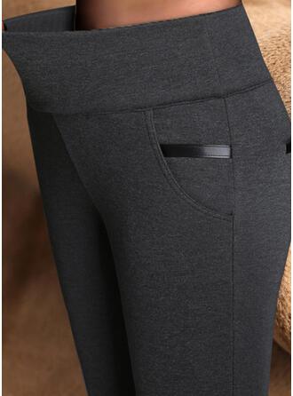 Solid Pluss størrelse Sexy Årgang leggings
