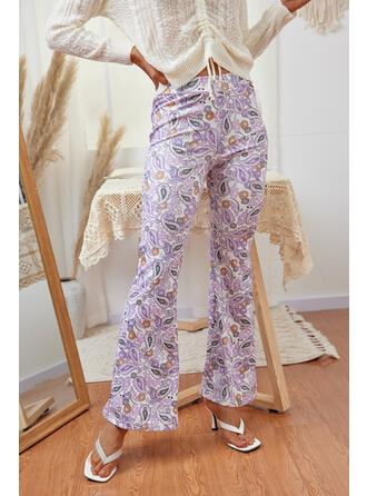 Imprimeu Uzun gündelik Pantolonlar