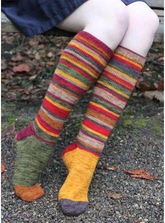 Gestreift/Geometrische drucken/Bunt Komfortabel/Damen/Weihnachten/Calf Socks/Erwachsene Socken/Strümpfe Socken