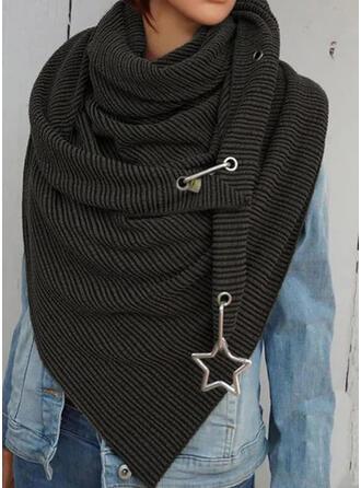 Cor sólida/Retro /Vintage moda/Confortável/Triângulo Lenço