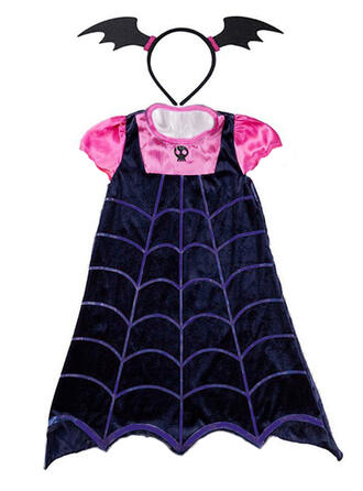Girls Round Neck Print Casual Cute Cool Party Vacation Dress