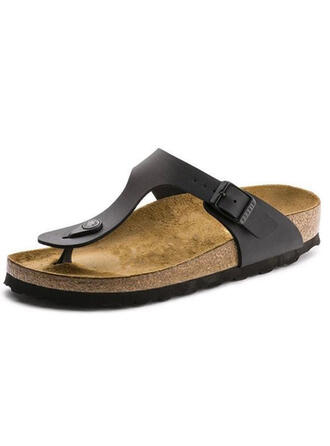 Mulheres PU Sem salto Sandálias Sapatos abertos Chinelos sapatos