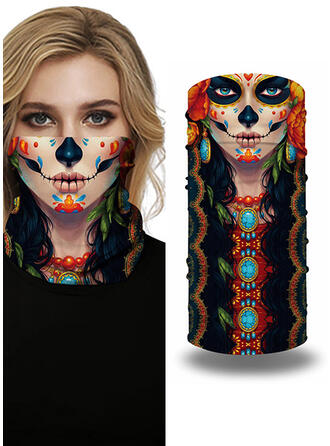 Breathable/Protective/Full Coverage/Multi-functional/Seamless/Dust Proof/Skull Print/Halloween Bandanas