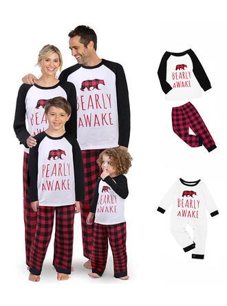 Ours Letter Tenue Familiale Assortie Pyjama De Noël