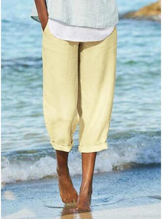 buzunare înfășurate Plus Size Casual sportiv Pantaloni