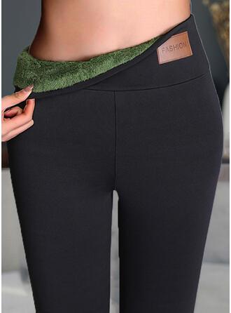 Solid Pluss størrelse Elegant Sexy leggings