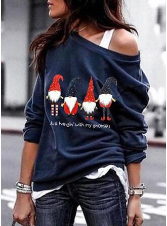 Cotton Print Christmas Christmas Sweatshirt