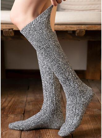 Culoare solida Confortabil/Femei/Șosete de vițel Şosete/Ştrampi