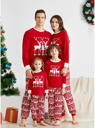 Reindeer Letter Family Matching Christmas Pajamas