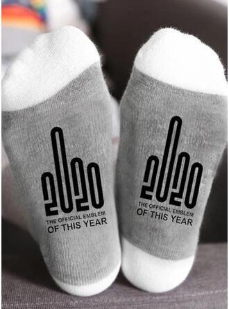 Tekst/Trykk pustende/Jul/Crew sokker/2020/Unisex Sokker