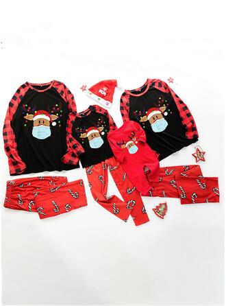 северный олень олень Распечатать Семейное соответствие Рождественская пижама