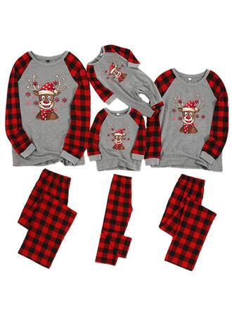 олень Плед Цветочный Семейное соответствие Рождественская пижама