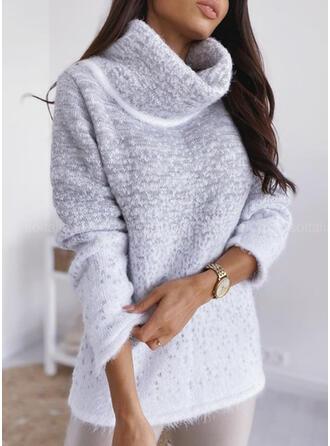 Tie Dye Turtleneck Casual Sweaters
