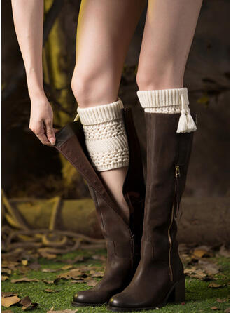 Ensfarget Komfortabel/kvinner/Leggvarmere/Boot Cuff Socks Sokker