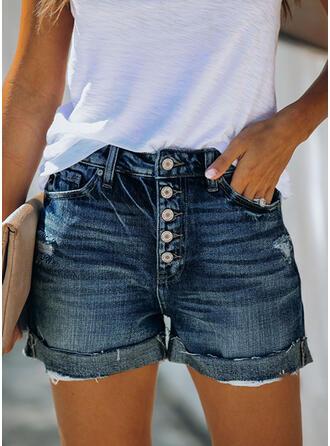 buzunare înfășurate Plus Size Deasupra genunchiului Casual Sexy Blug Pantaloni scurti