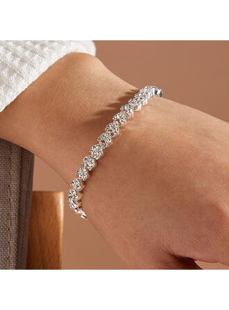Shining Alloy Rhinestones With Rhinestones Women's Ladies' Bracelets