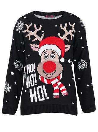 унисекс Полиэстер северный олень Письмо Гадкий рождественский свитер