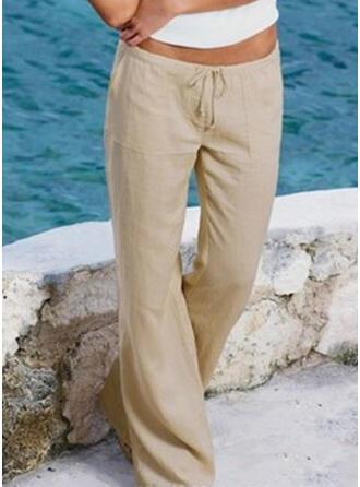 buzunare înfășurate Plus Size Lung Boho Casual Lung Pantaloni