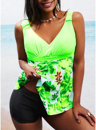 Tisk Na ramínka Sexy Plavkové šaty Costume de baie
