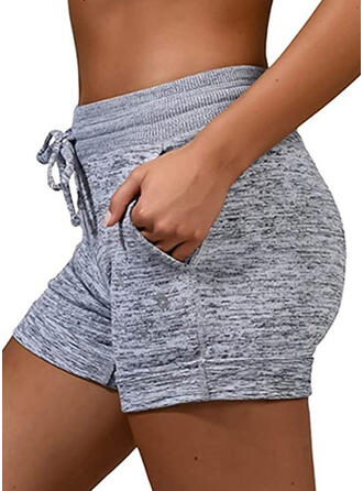 Plus Size Drawstring Above Knee Casual Sporty Shorts