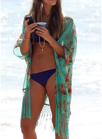 Floral Tassels Bohemian Attractive Cover-ups Swimsuits