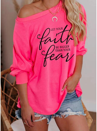 Figure One-Shoulder Long Sleeves Casual T-shirts