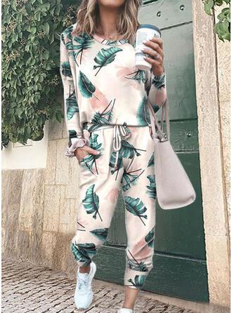 Print Fritids tee & Tvådelade kläder uppsättning