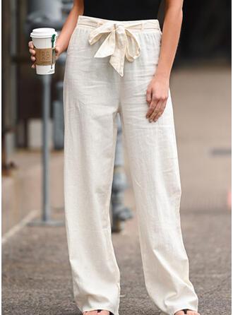 Solid Long Boho Casual Pants