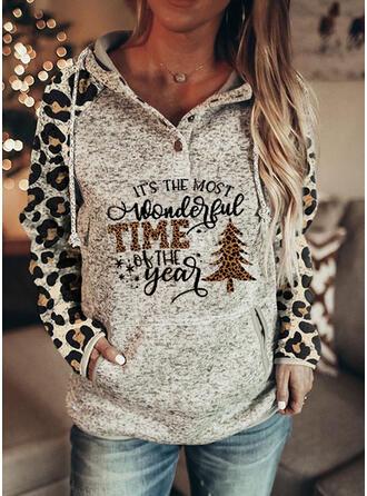 Leopard Figur Lange ærmer Jule sweatshirt