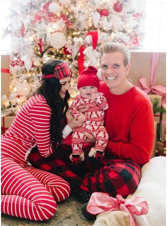 Bär Karierte Gestreift Passende Familie Christmas Pajamas