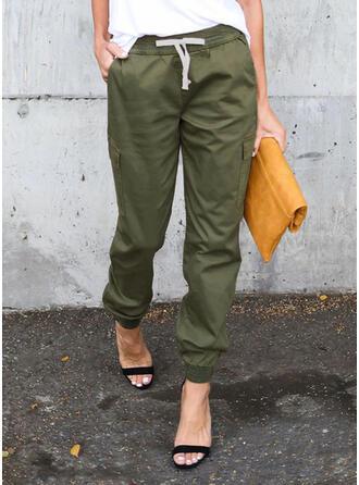 Jednolity Kieszenie Długo Nieformalny Długi sportieve Spodnie