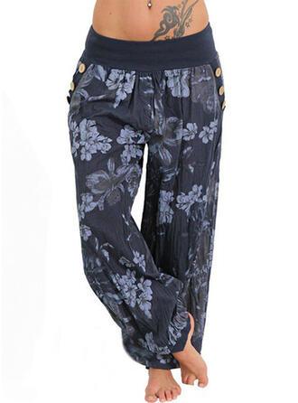 Floral Print Long Boho Casual Pants