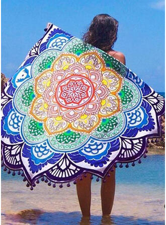 Tassel/geometriske Skriv ut rund/attraktiv/Boho Strand håndkle