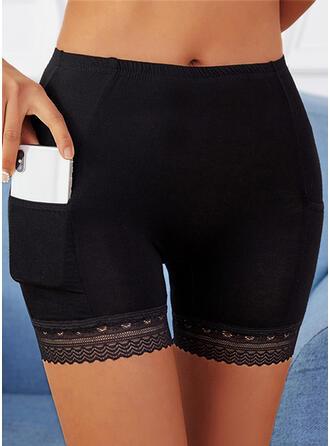 Pevný Krajka Nad kolenem Neformální hlubokým výstřihem Kalhoty Šortky Legíny