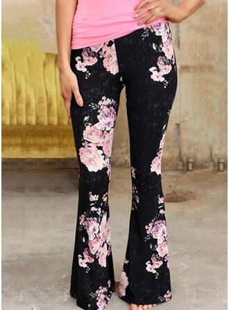 Kwiatowy Nadruk Seksowny Kwiatowy Spodnie