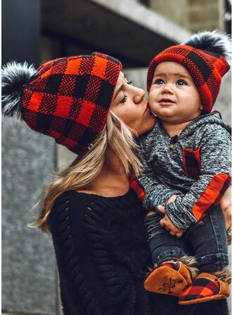 Plaid Varm/Komfortabel/Jul/Familie matchende Hatt
