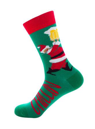 Imprimeu Rahat/Noel/Crew Çorap/üniseks Çorap