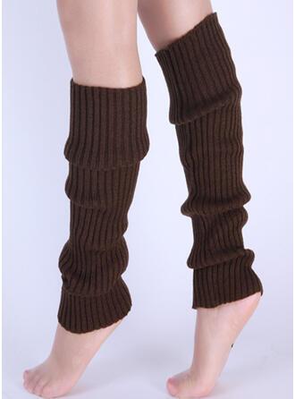 В полоску/Сплошной цвет удобный/Женский/Гетры/Носки Boot Cuff Носки