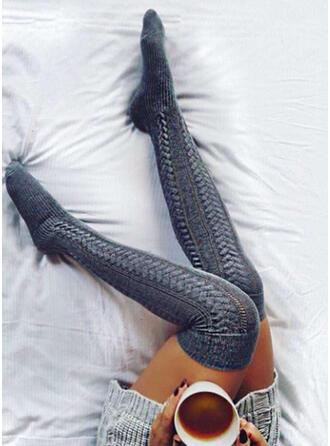 Culoare solida respirabile/Confortabil/Femei/Șosete genunchi-înalte Şosete/Ştrampi