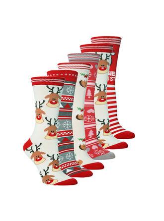 Jule Reinsdyr Komfortabel/Jul/Crew sokker/Unisex Sokker