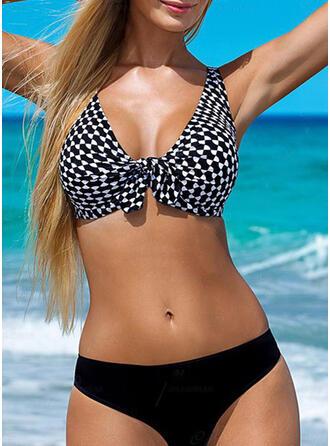 Niski stan Góra W prążki Seksowny Elegancki Bikini Stroje kąpielowe