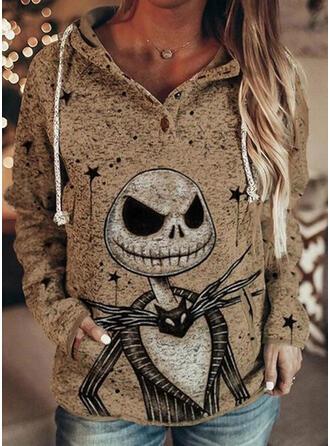 Halloween Les poches Manches longues Capuche