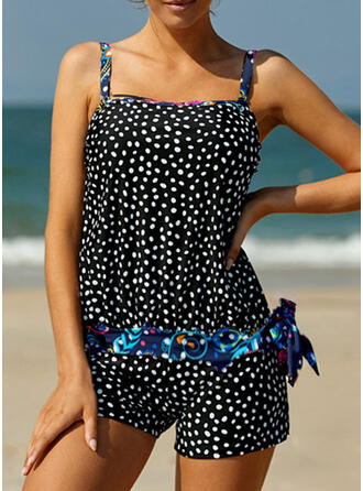 Dot Strap Sexy Casual Tankinis Swimsuits