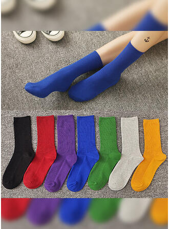 Solid Color/Colorful Breathable/Comfortable/Crew Socks/Unisex Socks