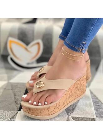 Sandale Platformă Platforme Puţin decupat în faţă Şlapi între degete Şlapi Tocuri cu Şirag de Mărgele De la gât înafară pantofi