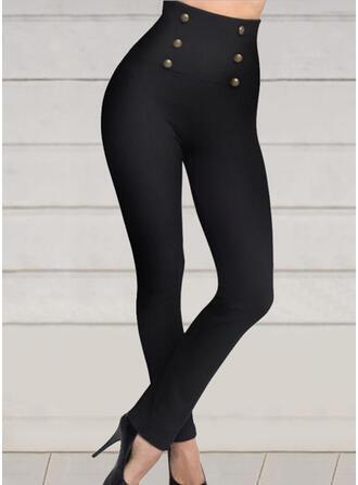 Solid Pluss størrelse Sexy Sportslig Yoga leggings
